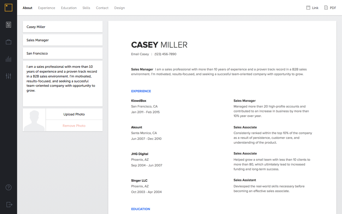 Resume Of Sanjay Pinterest